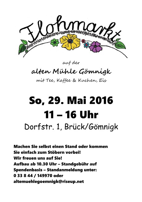 Flohmarkt Flyer 2016